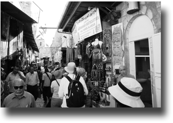 Jerusalem at a souk in the Muslim quarter