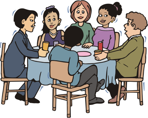 group of people at table
